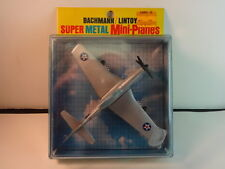 Lintoy Bachmann Silver P-51 Mustang Airplane w/ box