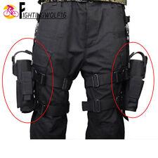 Right+Left Hand Pistol Holster Fit All Handgun Leg Thigh Dual Gun Pouch Holder