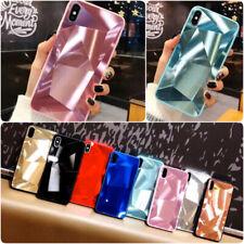 Espejo de textura XR Diamante teléfono caso para iPhone XR Lindo Suave a Prueba de impactos Cubierta
