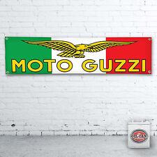 MOTO GUZZI Italian Fahne Banner – Heavy Duty für Werkstatt, Garage, 1700 x 430mm