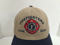 Firefrighter Local 2251 Carson City, NV Embroidered Brown Adj Strapback Hat/Cap