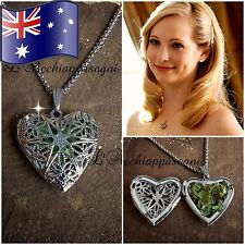 VERVAIN FILLED Sterling Silver VAMPIRE DIARIES Caroline Forbes Heart Necklace