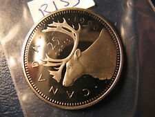 CANADA 1990 25 CENT GEM PERFECT COIN FROM MINT SET ID#R133
