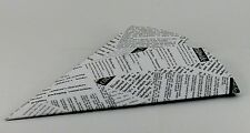 100 X Conos de chip de papel papel prensa Boda Canapé Catering peces de Chippy comida rápida
