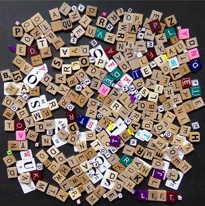 Scrabble Tiles, Letter Pieces, Spelling Games, Size & Color Mix, Crafts Huge Lot