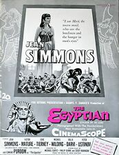 EGYPTIAN 1954 Jean Simmons Bella Darvi Michael Curtiz 2 TRADE ADVERTS