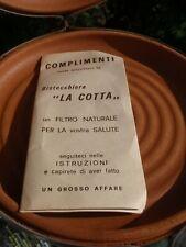 LA COTTA TERRA COTTA COOKWARE ROASTER ITALY NEVER USED