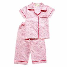 Woven B/D Floral Print #1060 Pajama Set Girls Kids Sleepwear, 2XL (8-10 y/o)