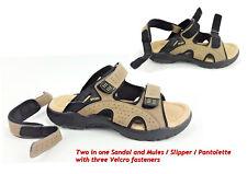 Men's Women's Leather Summer Sandals Mules Walking Hiking Trekking Trail B8700