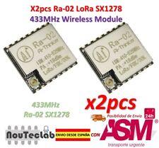 2pcs Ra-02 SX1278 433MHz Wireless Serial Port UART Interface LoRa Spread Ra02
