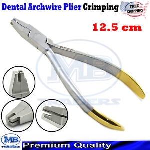 Dental Orthodontic Hook Crimping Plier TC Crimpable Arch Wire Placements Tools