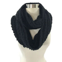 Apt 9 Loop Infinity Womens Neck Scarf Black Soft Velour Lined NEW