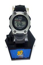 NEW Sport Ladies Casio Digital Watch W211 Black Cloth Band WR 50 Meter