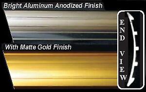 Studebaker C/K Coupe/Hawk 1953-64 Aluminum Rocker Molding Set Matte Gold Finish
