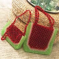 Ladies Watermelon Beaded Bags 100% Handmade Clutch Totes Acrylic Crystal Handbag