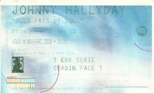 RARE / TICKET BILLET DE CONCERT LIVE - JOHNNY HALLYDAY A LYON NOVEMBRE 2003