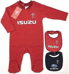 2 Pack Wales RU Rugby Baby Bodysuit Baby Vest Kit Design 20//21 Season