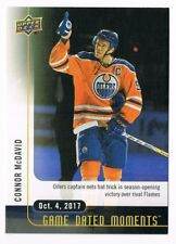 2017-18 Upper Deck Game Dated Moments #1 Connor McDavid 1st game Hat Trick