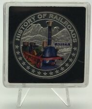 Liberia 2011 ADLER 5 dollars $ Silver Proof - History Of Railroads