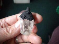 quartz pendant with white phantoms by paul harrison J11