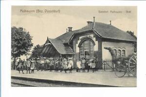 XX14116/ Mülhausen Bez. Düsseldorf   Bahnhof Mühlhausen - Oedt AK 1914