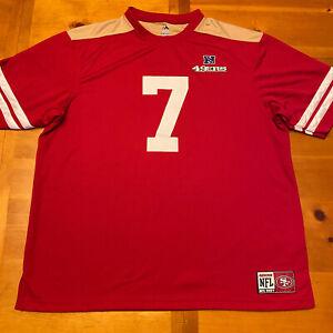 Colin Kaepernick San Francisco 49ers NFL Red Majestic Jersey T-Shirt Men's 2XL