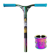Combo Team-Dogz Scooter Rainbow Bars Handlebars Oversized + Clamp Replacements