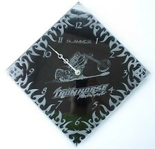 American Ironhorse Motorcycles, Slammer, Glass & Acrylic Handcrafted Wall Clock