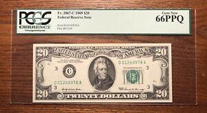 1969 $20 FRN Fr. 2067-C PCGS 66 Gem New