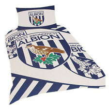 Official West Bromwich Albion Duvet Cover and Pillowcase Single Bed Set