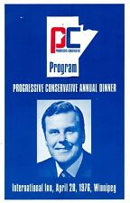 Conservative Party 1976 Annual Dinner Program Sterling Lyon slc