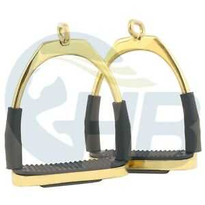 Gold Offset Eye Flexible Stirrups Stainless Steel Stirrups Gold Stirrups