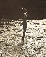 Original Vintage Outdoor Female Nude Everard Photo Gravure Print 40s38