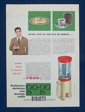 A509-Advertising Pubblicità-1960-FRULLATORE E MACINA CAFFE GO GO - BIALETTI
