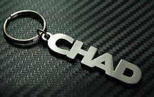 TCHAD nom personnalisé Porte-clé porte-clé Sur-mesure Acier Inoxydable Cadeau