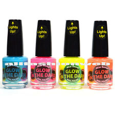"MIA SECRET GLOW IN THE DARK NAIL POLISH LACQUER LOT OF 4 SET! ""MADE IN USA"""
