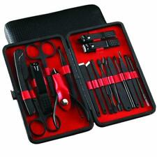 Votala Stainless Steel Nail Care Tools with Travel Case - Pack of 18