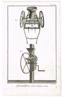 ANTIQUE PRINT VINTAGE 1777 COPPER PLATE DIDEROT AGRICULTURE TOOLS BERNARD DIREX