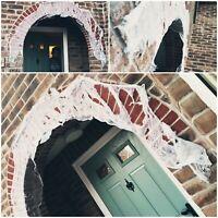 2.7M Ripped CREEPY CLOTH Halloween Table Door Decoration Prop Drape Props Cobweb