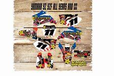Yamaha YZ YZF 85 125 250 450 Motocross Kit completo de gráficos-Calcomanías-Pegatinas-MX Clow