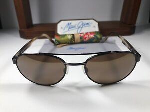 Maui Jim Up Country MJ 727-01M Matte Chocolate Sunglasses HCL Bronze Polarized