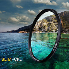 ZOMEI 62mm Ultra Slim CPL Circular Polarizing Polarizer Filter For DSLR Camera