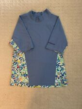 Patagonia Girl's Swim Shirt Size S (8) Blue/Flowers