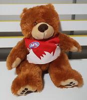 AFL SYDNEY SWANS  TOY TEDDY BEAR PLUSH TOY! SOFT TOY ABOUT 21CM SEATED! SMFC