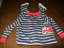 NWT Carter's Blue With Fire Truck Sleeper Size Boy's 5T