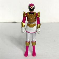 "Power Rangers Pink/White Action Figure TV Animated Series 4"" Ninja Bandai SCG"