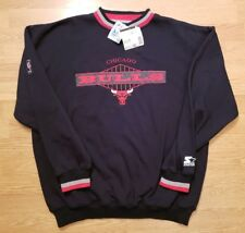 Vintage 90s Starter Chicago Bulls Sweatshirt Crewneck Pullover Jordan Mens XL
