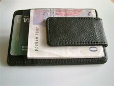 PREMIUM QUALITY NEW SLIMLINE LEATHER MONEY CLIP & CREDIT CARD HOLDER MENS GIFT