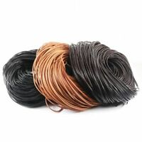 Genuine Leather Round Thong Cord String Rope For Diy Necklaces Jewelry Making