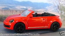 VOLKSWAGEN New BEETLE MK2 CABRIO 1:60 (Red) Majorette Diecast model car